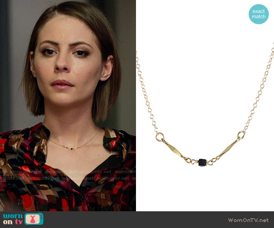 Alice + Olivia Eloise Blouse worn by Thea Queen on Arrow