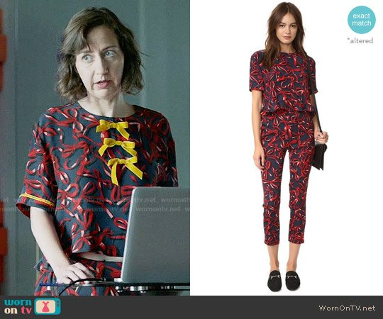 Piamita Blair Blouse worn by Kristen Schaal on Last Man On Earth