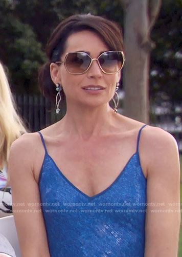 Quinn's blue sequined dress on The Bold and the Beautiful