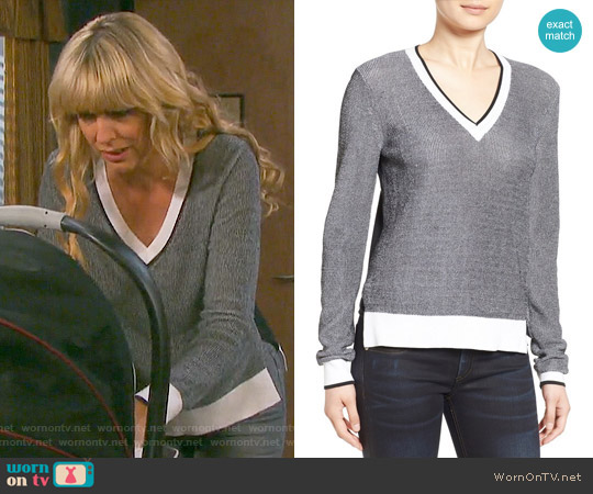 Rag & Bone 'Ainsley' V-Neck Sweater worn by Arianne Zucker on Days of our Lives