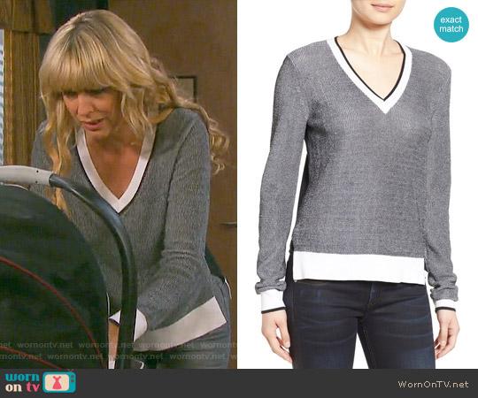Rag & Bone 'Ainsley' V-Neck Sweater worn by Nicole Walker (Arianne Zucker) on Days of our Lives