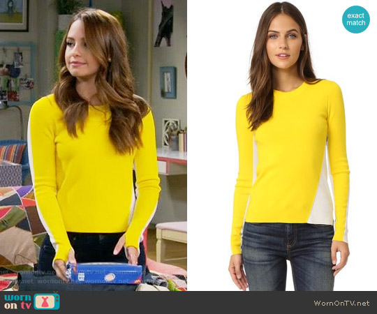 Rag & Bone Cecilee Sweater worn by Aimee Carrero on Young & Hungry