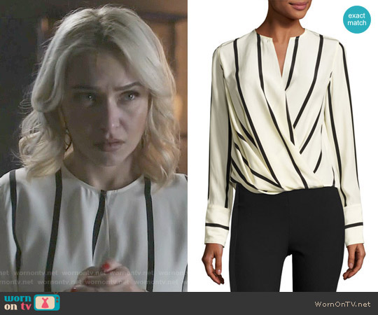 Rag & Bone Max Striped Blouse worn by Hayden Panettiere on Nashville