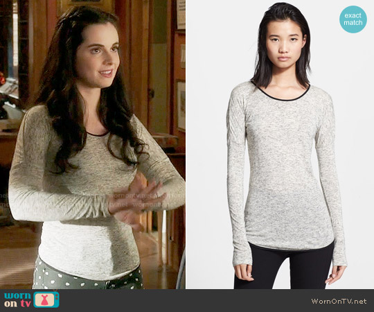 Rag & Bone Spine Tee worn by Vanessa Marano on Switched at Birth