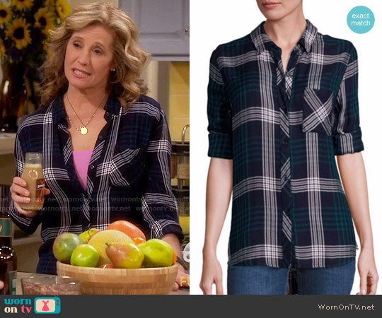 Rails Hunter Shirt in Indigo Emerald worn by Nancy Travis on Last Man Standing
