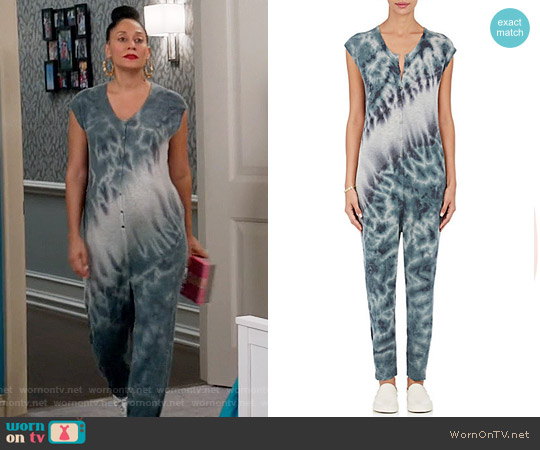 Raquel Allegra Tie-Dyed Fine-Gauge Knit Sleeveless Jumpsuit worn by Tracee Ellis Ross on Blackish