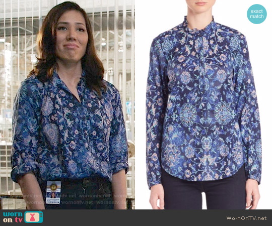 Rebecca Taylor Dreamweaver Voile Top worn by Michaela Conlin on Bones
