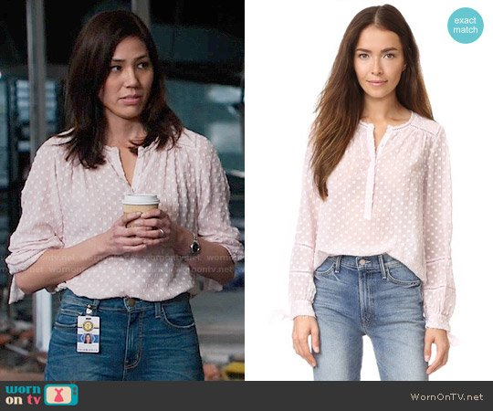 Rebecca Taylor Box Clip Blouse worn by Michaela Conlin on Bones