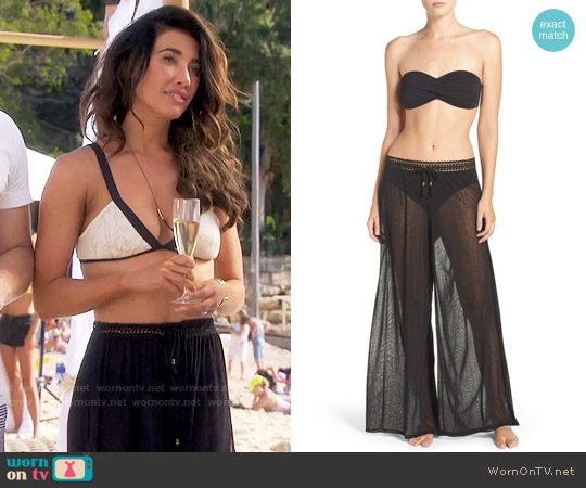 Robin Piccone Mesh Cover-Up Pants worn by Jacqueline MacInnes Wood on The Bold & the Beautiful