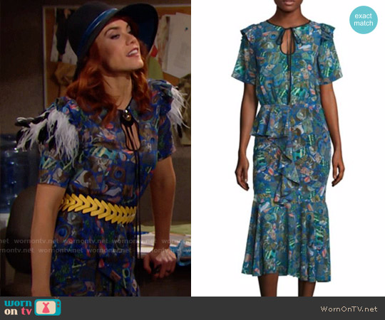 Romance was Born Hallmark Frill Dress worn by Sally Spectra (Courtney Hope) on The Bold & the Beautiful