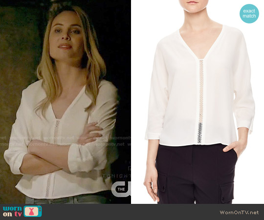 Sandro Anju Top worn by Leah Pipes on The Originals