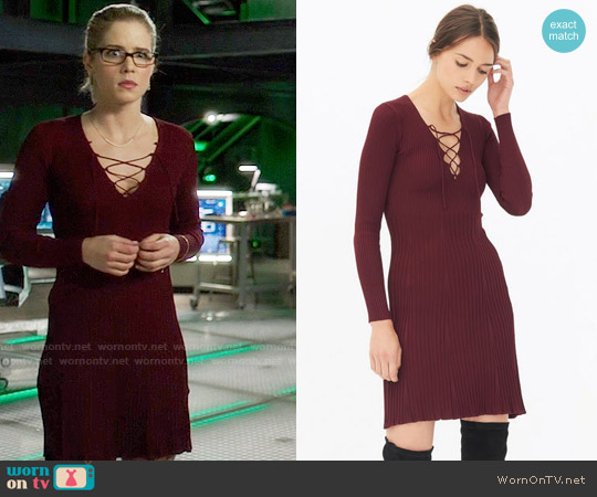 Sandro Day Dress worn by Emily Bett Rickards on Arrow