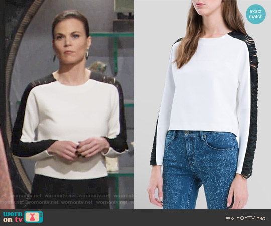 Sandro Edwidge Top worn by Phyllis Newman (Gina Tognoni) on The Young & the Restless