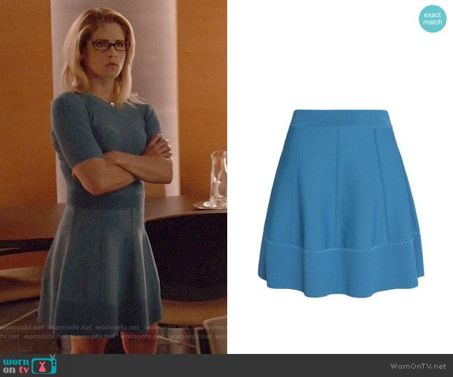 Sandro Flared Stretch Ponte Skirt worn by Emily Bett Rickards on Arrow