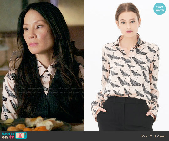 Sandro Freedom Shirt worn by Lucy Liu on Elementary
