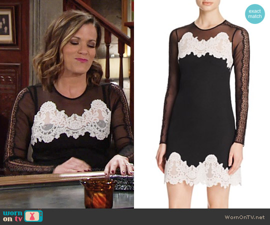 Sandro Kyra Lace Dress worn by Melissa Claire Egan on The Young & the Restless