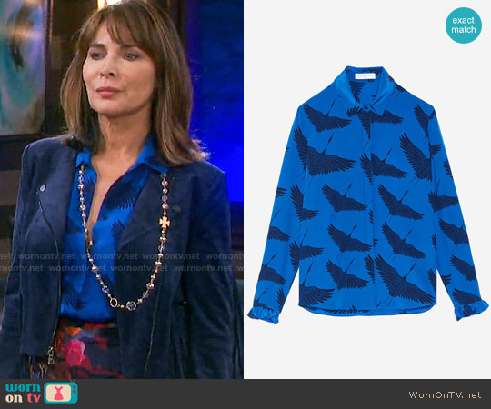 Sandro Lena Shirt worn by Lauren Koslow on Days of our Lives