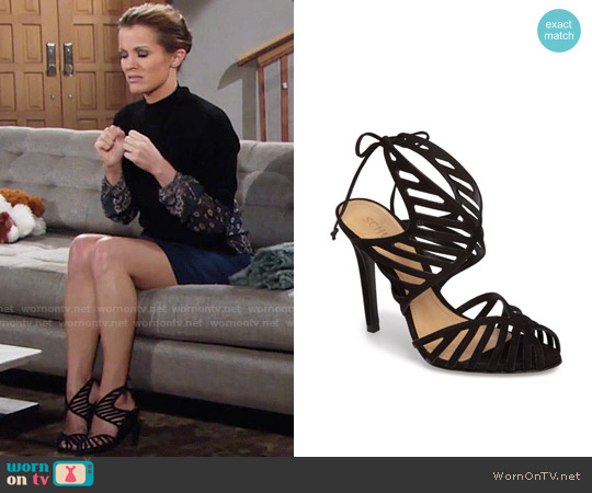 Schutz Anamelia Sandals worn by Chelsea Lawson on The Young & the Restless