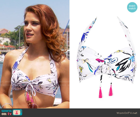 Seafolly Flower Festival Halter Bra Bikini worn by Courtney Hope on The Bold & the Beautiful