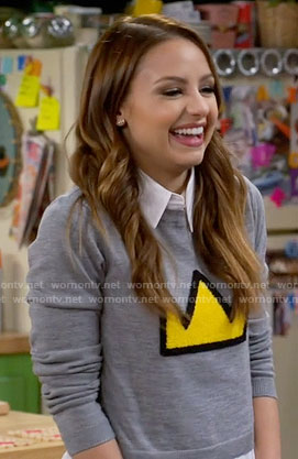 Sofia's crown sweater on Young and Hungry