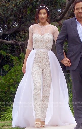 Steffy's wedding jumpsuit on The Bold and the Beautiful