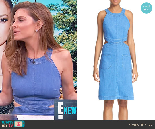 Stella McCartney Denim Cutout Dress worn by Maria Menounos on E! News