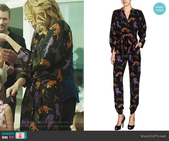Stella McCartney Wildcat Jumpsuit worn by Renata Klein (Laura Dern) on Big Little Lies
