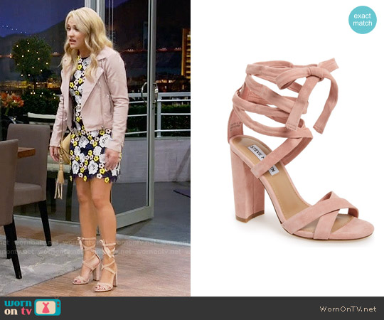 Steve Madden Christey Sandals worn by Emily Osment on Young & Hungry