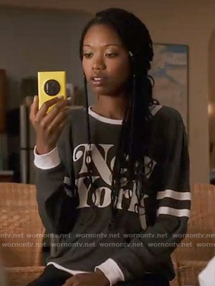 Tamra's New York sweatshirt on The Mindy Project