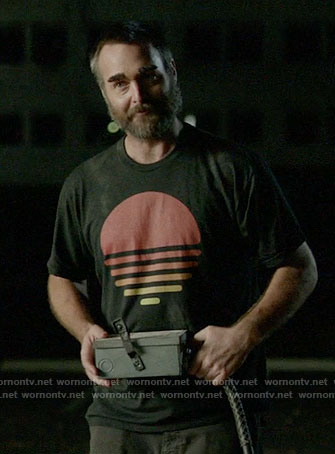 Phil's sun graphic t-shirt on Last Man on Earth
