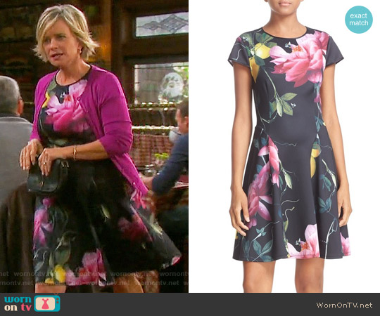 Ted Baker Allisia Dress in Citrus Bloom worn by Kayla Brady (Mary Beth Evans) on Days of our Lives