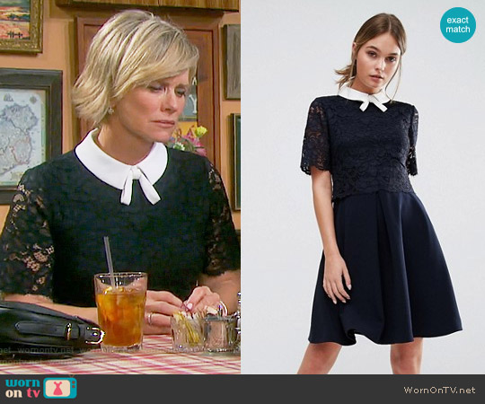 Ted Baker Dixxy Lace Dress worn by Mary Beth Evans on Days of our Lives