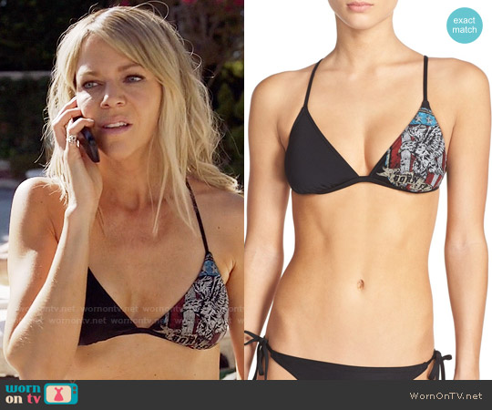The Bikini Lab 'Born Free' Triangle Bikini Top worn by Kaitlin Olson on The Mick