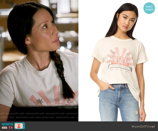 The Great The Palm Crew Tee worn by Lucy Liu on Elementary