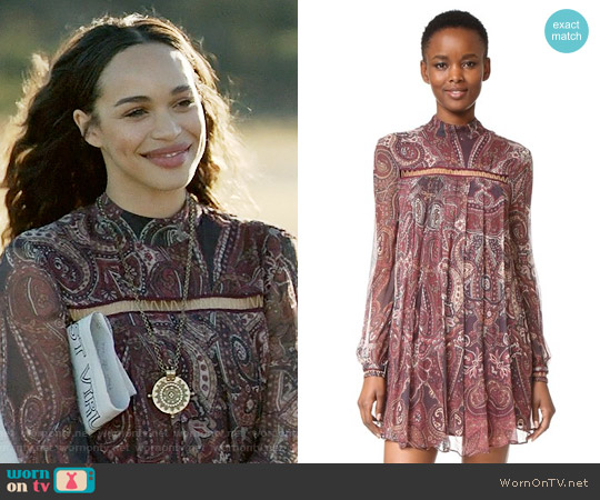 The Jetset Diaries Labyrinth Paisley Mini Dress worn by Cleopatra Coleman on Last Man On Earth