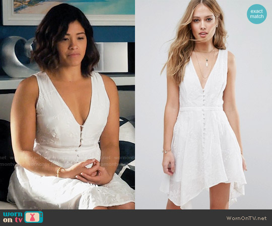 The Jetset Diaries Monta Vista Mini Dress worn by Gina Rodriguez on Jane the Virgin