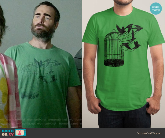 Threadless Breaking Through to Freedom T-shirt worn by Will Forte on Last Man On Earth