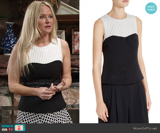 Tibi Colorblock Corset Top worn by Sharon Case on The Young & the Restless