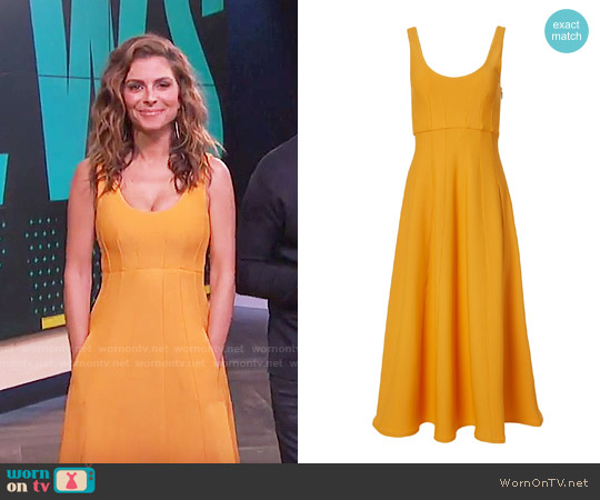 Tibi Corset Structured Midi Dress worn by Maria Menounos (Maria Menounos) on E! News
