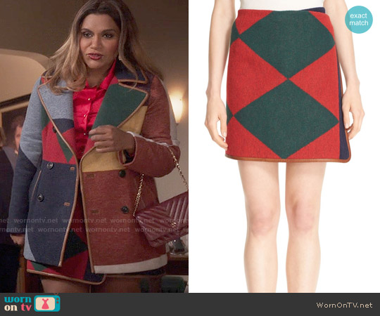 Tory Burch Cheval Wrap Skirt worn by Mindy Lahiri on The Mindy Project