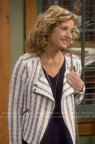 Vanessa's striped jacket on Last Man Standing