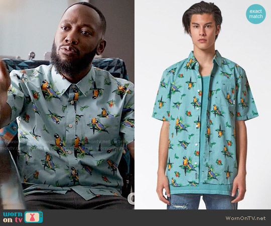 Vans Parrots Short Sleeve Button Up Shirt worn by Winston Bishop on New Girl