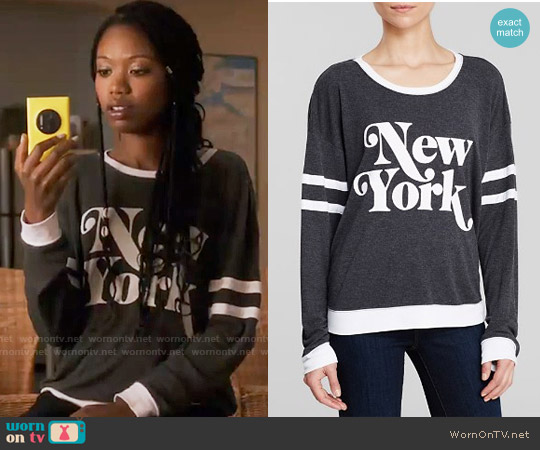 Wildfox New York Sweatshirt worn by Xosha Roquemore on The Mindy Project