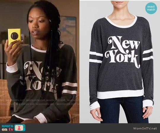 Wildfox New York Sweatshirt worn by Tamra (Xosha Roquemore) on The Mindy Project