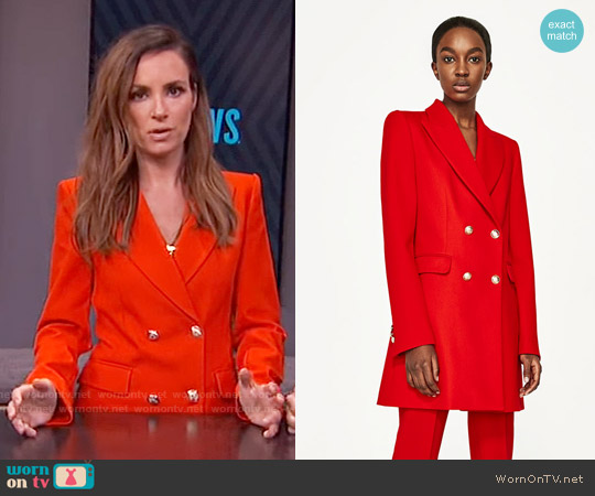 Zara Double Breasted Jacket worn by Catt Sadler on E! News