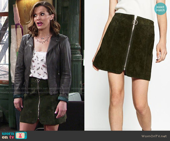 Zara Leather Mini Skirt worn by Chelsea Lawson on The Young & the Restless