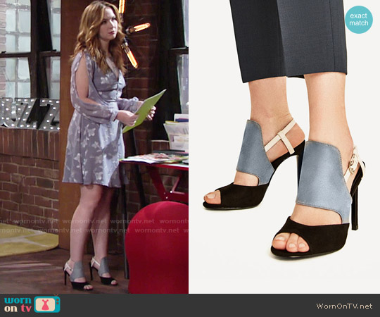 Zara Three Toned High Heeled Sandals worn by Mariah Copeland on The Young & the Restless
