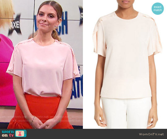 3.1 Phillip Lim Ruffle Silk Tee worn by Maria Menounos  on E! News