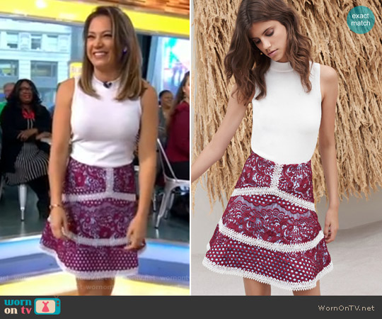 'Jackson' Top and 'Novalie' Skirt by Alexis worn by Ginger Zee  on Good Morning America