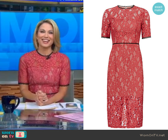 Remi Midi Lace Dress by Alexis worn by Amy Robach on Good Morning America